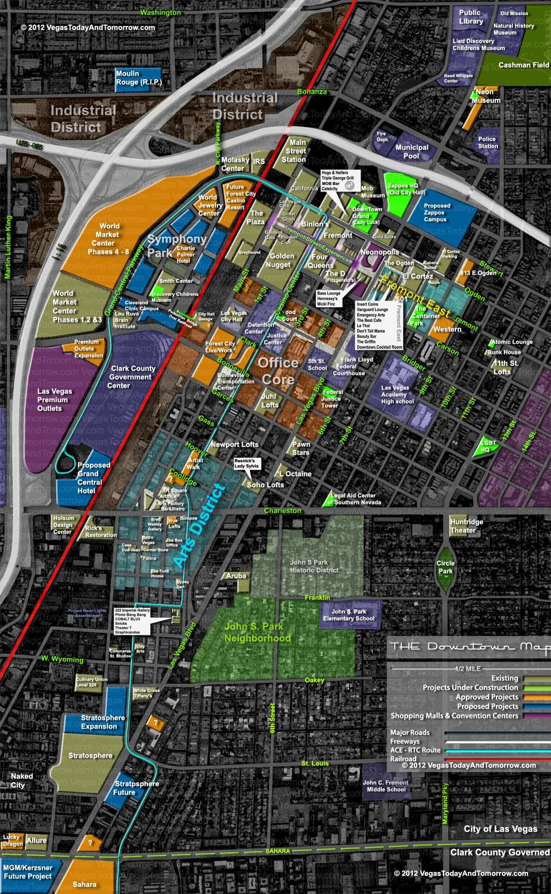 Downtown Vegas Map My Blog - Map of downtown las vegas hotels