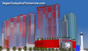 Vegas dream projects and failed renderings for Maxim design hotel 3 star