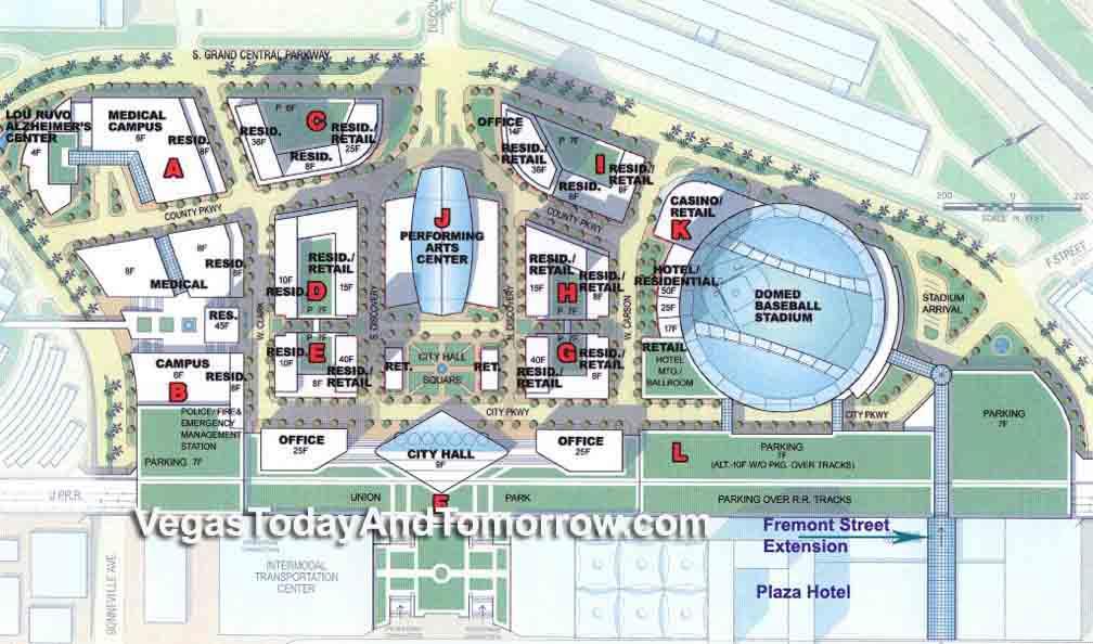 The Park Las Vegas Map.Symphony Park